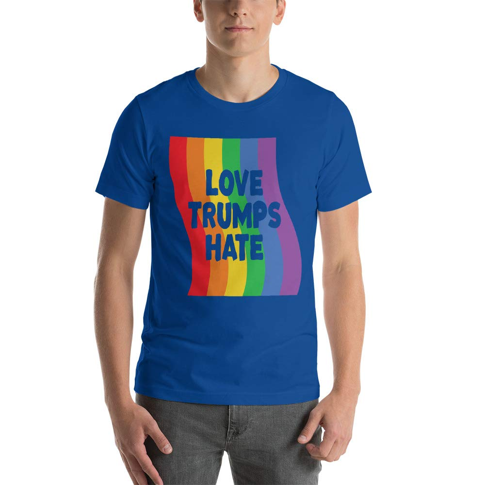 Kyandii Love Trumps Hate Gay Pride Rainbow Short-Sleeve Unisex T-Shirt
