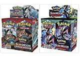 Pokemon Trading Card Game Crimson Invasion Booster Box and Sun & Moon Guardians Rising Booster Box Bundle, 1 of Each