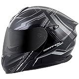 ScorpionExo EXO-GT920 Full Face Modular Helmet (Satellite Silver, Medium)
