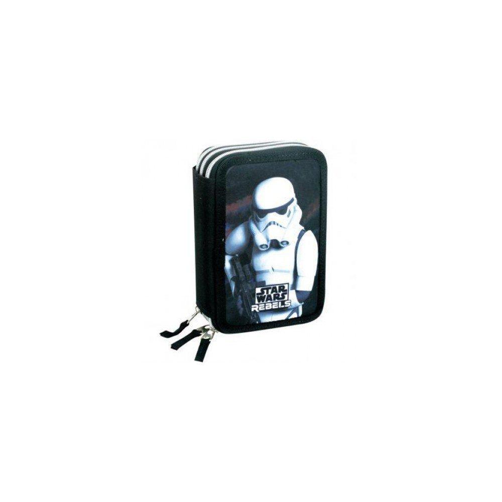 estuche 45 piezas//Pencil case Star Wars Plumier triple