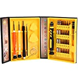 38 in 1 Precision Screwdriver Tool Kit JACKYLED Compact Repair Maintenance Opening Pry Set with Tweezers Triangle Paddle for iPhone iPad Macbook Laptop Watches Camera