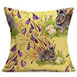 Livoty Easter Sofa Bed Home Decoration Festival Pillow Case Cushion Cover (F)