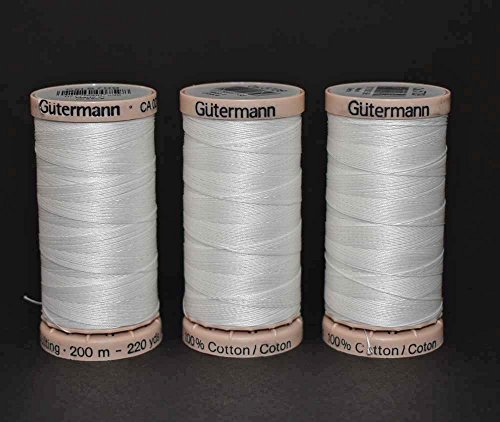 Bundle of 3 Spools of Gutermann Hand Quilting Thread - (Gutermann Cotton Quilting Thread)