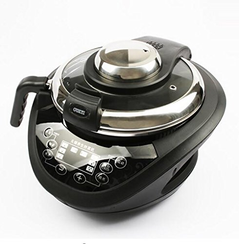 SHANGXIAN Electric Automatic Wok Intelligent Cooking Pot Non Stick Multifunction Electromagnetic Cooking English Keys,Black by SHANGXIAN