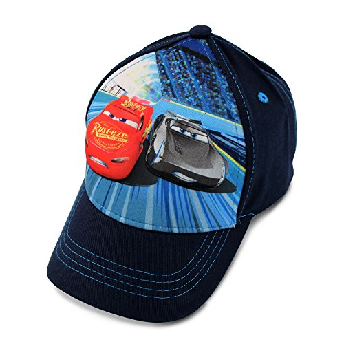 Disney Toddler Boys Cars Lightning McQueen 3D Pop Baseball Cap, Blue, Age 2-4