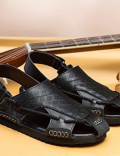 ShangYi Herren Sandaletten Herrenschuhe-Outddor / Büro / Kleid / Lässig / Sportlich-Sandalen-Nappa Leather-Schwarz / Braun Brown