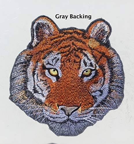 Tiger Embroidery Patch, Asian Tiger Patch, Large Tiger Face Patch 5 x 5.5 inches, Tiger Sew On Patch