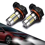 2012 camry led running lights - SEALIGHT H11/H8 LED Fog Lights Bulbs, Upgrade H16 LED Lamps DOT Approved, Cool Xenon White 6000K, 1 Yr Warranty (Pack of 2)