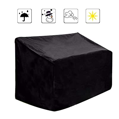 Younar Dustproof and Waterproof Outdoor Benches Cover, Black Universal Protective Cover for Indoor Furniture and Bench Seat : Garden & Outdoor