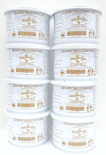 Sharonelle Natural Soft All Purpose Honey Wax in 14 oz. - 8 cans