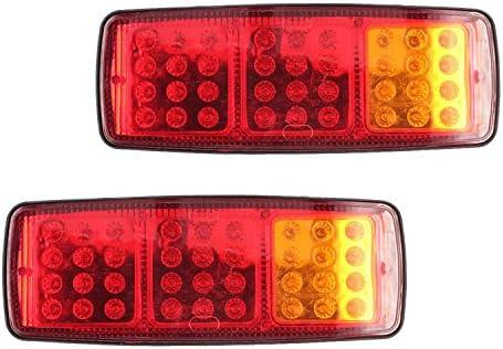 Rücklicht Anhänger Hehemm Rueckleuchte Anhaenger 36 Led 12v Universal Rücklichter Rückleuchten Für Kfz Anhänger Licht Komplett Mit Glühlampen 2 Stück Auto