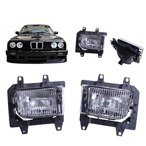 Kitty Party 1 Pair Front Bumper Fog Lights Clear Bracket For BMW 3-Series 85-92 E30 (Bmw Fog Light Bracket)