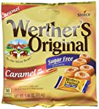 WERTHER'S ORIGINAL Sugar Free Caramel Hard Candy, Sugar Free Candy, Bulk Candy, Caramel Candy, Individually Wrapped Candy, Low Carb Candy, 1.46 Ounce Bags (Pack of 12)