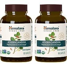 Himalaya Organic Ashwagandha 60 Caplets for Anti-Stress and Energy 670 mg (Pack of 2)