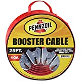 Pennzoil Jumper Cable 4 Gauge 25 Foot Heavy Duty Battery Booster with Travel Bag for Most Cars Trucks Vans SUVs