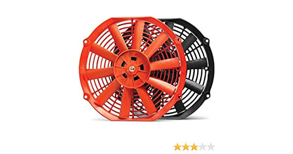 Blox Racing BXCC-00002-RD Red 12 Electric Slim Fan