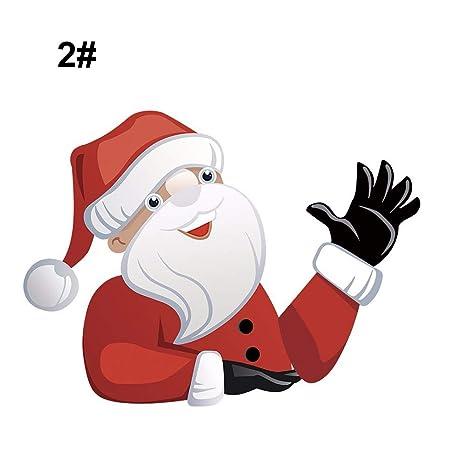 Etiqueta de limpiaparabrisas del coche de Navidad divertido Santa que agita etiquetas de calcomanías del limpiaparabrisas