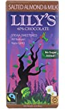 Lily's Milk Chocolate Bar with Stevia Salted Almond -- 3 oz - 2 pc
