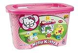 Unico plus Hello Kitty Big Blocks 73 Piece Mini Tub Building Kit Ages 3+ Works with Lego Duplo