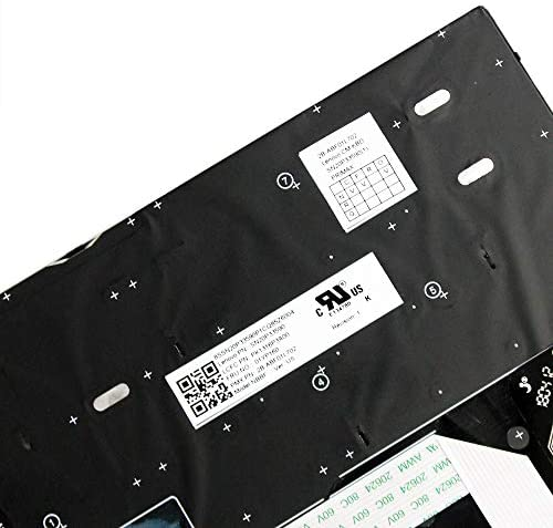 01YP040 01YP120 01YP160 01YP200 KBR Replacement Backlit Keyboard Compatible with Thinkpad X280 X390 X395 Laptop with Frame P//N