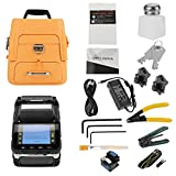 High Precision Fiber Optic Fusion Splicer Full Automatic Fast AI-7 LCD Welding Splicing Machine Set Built-in Lighting for Night Operation (US Plug AC100V-240V)