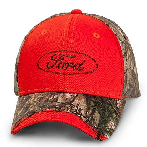 Mac Adjustable Hat (Ford Logo Realtree Camo Red Baseball Cap)
