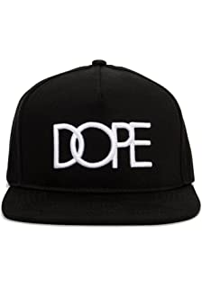 26d87379a64 DOPE 24K Gold Logo Snapback Hat One Size Black at Amazon Men s ...