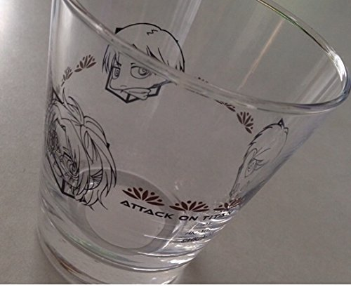 ローソン 限定 進撃の巨人 ゼリーグラス グラスのみ ちみキャラ リヴァイ 兵長 エレン ハンジ グラス