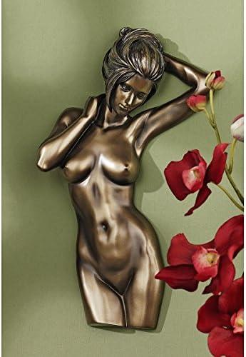 Design Toscano WU75245 La Donna Nude Female Torso Wall Sculpture,Bronze