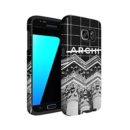 Not Archi Architect Paris Pantheon Samsung Galaxy S7 Silicone Inner / Outer Hard PC Shell Hybrid Armor Protective Case (Pantheon Shell)