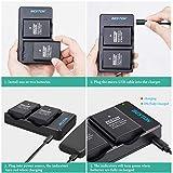 BESTON 2-Pack EN-EL14 / EN-EL14a Battery Packs and
