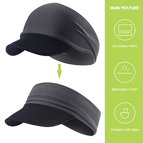 hikevalley Yoga Headband - Unique Design Women UV Protective Sun Visor
