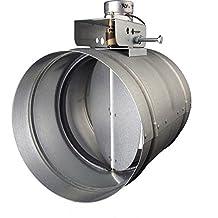 "Broan MD10TU Motorized Universal Make-Up Air Damper with Pressure Sensor Kit, 10"""