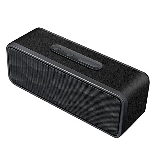TWOPAGES TPBS-B Portable Wireless Bluetooth 4.0 Speaker with Mic, Micro TF SD Card and Built-in 1200mAh Battery, Black