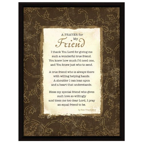 (Dexsa Prayer.My Friend Wood Frame Plaque with Easel)