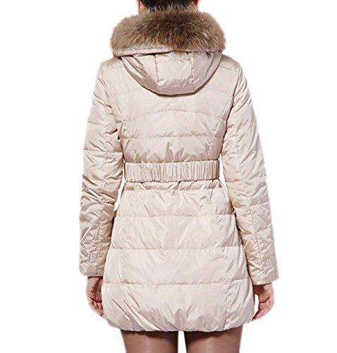 Sección Cuello Gran Femenino Piel Larga Winterparka Mantel Abajo Wintermantel Sublevel A Damen De 4Sx1qnU
