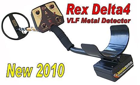 Rex Delta 4 VLF Metal Detector cercametalli Oro Preziosi y monedas: Amazon.es: Jardín