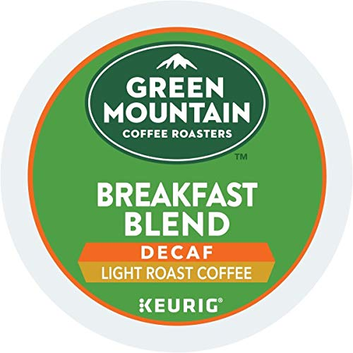 Green Mountain Coffee, Breakfast Blend Decaf, Single-Serve Keurig K-Cup Pods, Light Roast, 96 Count (4 Boxes of 24 ()