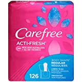 Health & Personal Care : Carefree Acti-Fresh Body Shape Ultra-Thin Panty Liners, Regular To Go, Unscented - 126 Count