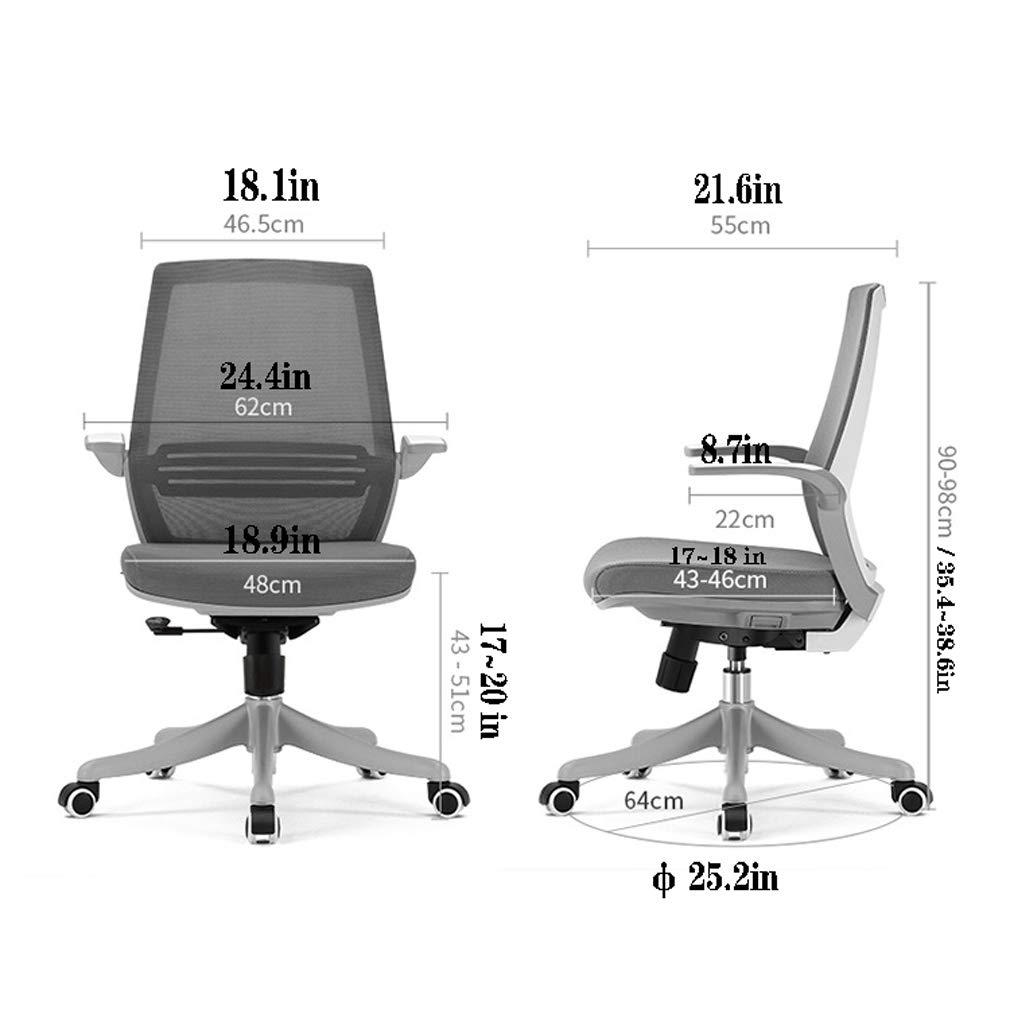 MYGIRLE Arbete från hemmakontor stol komfort ergonomisk spelstol för tonåringar med armstöd mitt bak, svart Orange