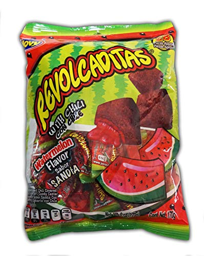 Jovy Revolcaditas with Chili Watermelon Flavor   6oz Bag   Mexican Candy