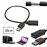 5Gbps 30cm USB 3.0 Male to Female Short Cable Extension For Tablet