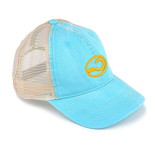 Hook Life Branded Caps (Lagoon), Beautiful Embroidery, Emblematic Classy Brand - For People Who Come to Life On the Water. Your Purchase Supports Oyster Restoration for Clean - Classy Brands