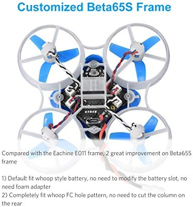 BETAFPV Beta65S DSMX 1S Brushed Whoop Drone with F4 DSMX FC M01 AIO Camera 19000KV 7X16 Motor for Tiny Whoop FPV Racing