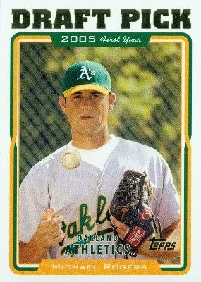 RC 2005 Topps Baseball Card #673 Michael Rogers Rookie Card Oakland Athletics