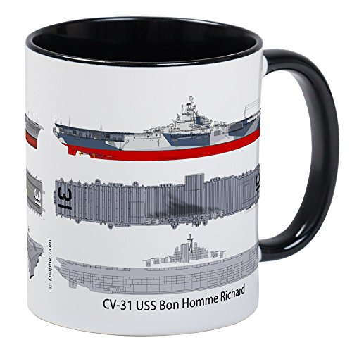 CafePress - USS Bon Homme Richard CV 31 CVA-31 Mug - Unique Coffee Mug, Coffee Cup