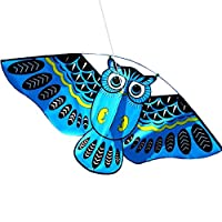 Jinjin 3D Owl Kite Fashion Pattern Beautiful Classic Suitable for Flying in Open Space Outdoor Flying Activity Game Children with Tail Kite Flying Accessories