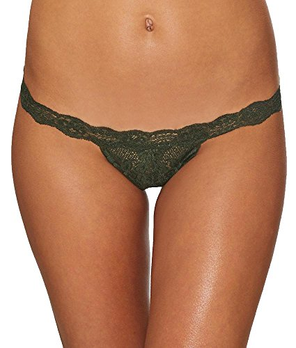 Hot As Hell String Me Along Thong, M, Graphite Green