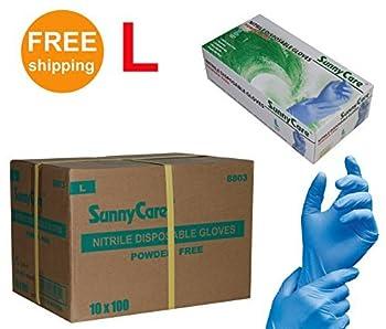 SUNNYCARE #8803 Nitrile Disposable Gloves Powder Free Size: large 1000pcs/Case ;100pcs/box;10boxes/case