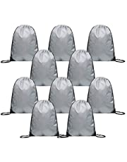 JUNFA Cinch Bags Drawstring Backpack 8,10-Pack Not See-Through Pull String Bag-Football Pattern